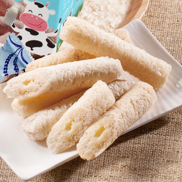 牛奶米菓捲/15入【強森先生】純米製作 濃郁奶香 優良零嘴